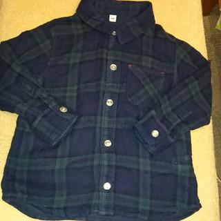 MUJI (無印良品) - 【無印良品】サイズ100 ガーゼ素材チェックシャツ