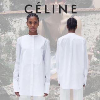 セリーヌ(celine)のceline タキシード シャツ ブラウス 34サイズ(シャツ/ブラウス(長袖/七分))