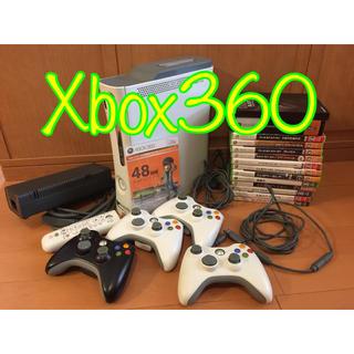エックスボックス360(Xbox360)のXBOX360  ソフト14本付き コントローラ4つ リモコン(家庭用ゲーム本体)