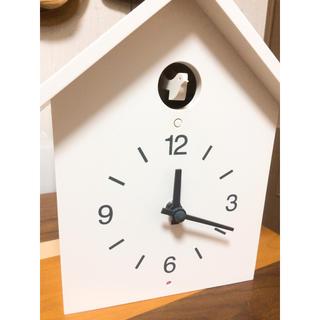 ムジルシリョウヒン(MUJI (無印良品))の鳩時計・大 掛置時計・ホワイト(掛時計/柱時計)