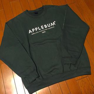 アップルバム(APPLEBUM)のAPPLEBUM アップルバム トレーナー スエット グリーン 緑 クルーネック(スウェット)