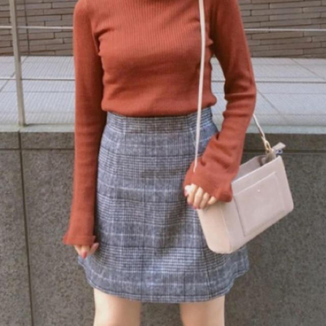 MERCURYDUO(マーキュリーデュオ)のMERCURYDUO グレンチェック台形ミニスカート レディースのスカート(ミニスカート)の商品写真