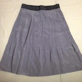 ジェイフェリー(J.FERRY)の新品 スカート シルバー ゴム ラメ(ひざ丈スカート)