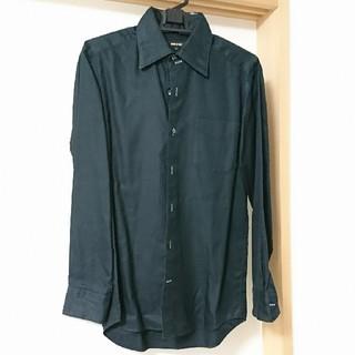 コムサメン(COMME CA MEN)のコムサ☆メンズ☆カラーシャツ☆S☆ブラック(シャツ)