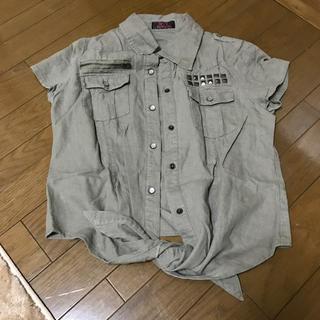 スパイシーマーマレード(SPICY MARMALADE)のデニムシャツ(シャツ/ブラウス(半袖/袖なし))