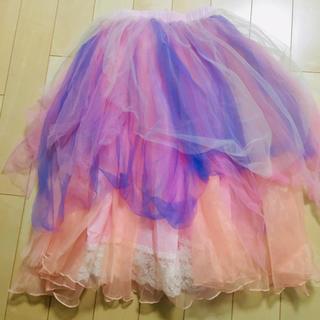 5fd35792a9a45 フェイバリット(Favorite)の美品✨大幅値下げ!favorite チュール スカート(ひざ