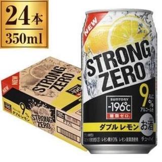 サントリー(サントリー)の[2ケース][送料無料] -196℃ ストロングゼロ <ダブルレモン>(リキュール/果実酒)