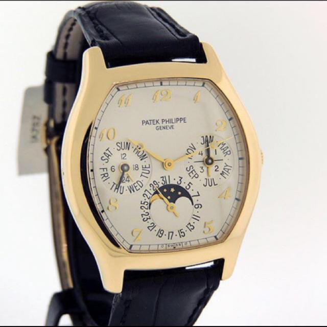 返品① パテフィリ腕時計 5040J パーペチュアルカレンダー K18YG  メンズの時計(腕時計(アナログ))の商品写真