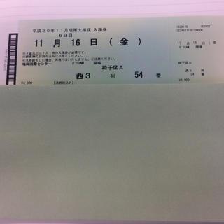 大相撲九州場所 椅子席(相撲/武道)