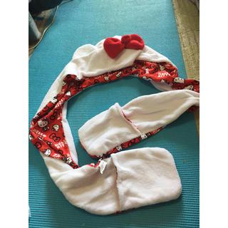 サンリオ(サンリオ)のキティ マフラー帽子 手袋付き(マフラー/ショール)
