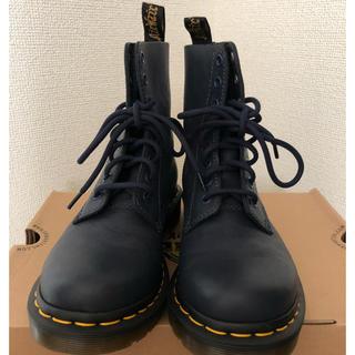 ドクターマーチン(Dr.Martens)のドクターマーチン Dr Martens  濃紺  紐  イエロー 靴  ブーツ(ブーツ)