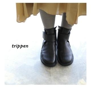 トリッペン(trippen)の新品です✴trippen トリッペン BASE BLACK-WAW(ブーツ)