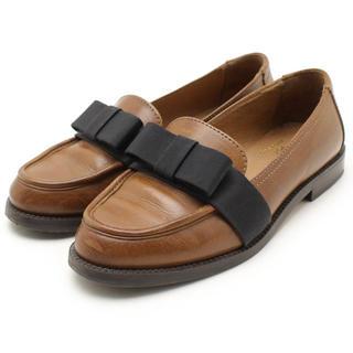 ディエゴベリーニ(DIEGO BELLINI)のレザーブラウン DIEGOBELLINI ディエゴベリーニ リボンローファー36(ローファー/革靴)