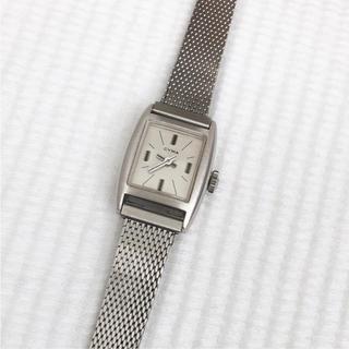 シーマ(CYMA)の美品 CYMA  シーマ 角形ビンテージ レディース手巻き腕時計 稼動品 箱付(腕時計)