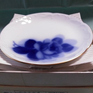 オオクラトウエン(大倉陶園)の大倉陶園 ブルーローズ 15cm銘々皿 5枚セット (食器)