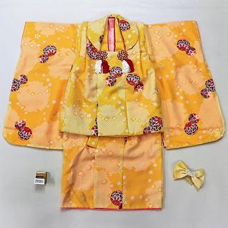 七五三 新品 3歳 三歳 3才 女の子 被布着物セット NO29381(和服/着物)