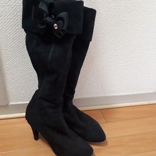 バニティービューティー(vanitybeauty)のvanity Beauty ロングブーツ 24.5cm スエード(ブーツ)