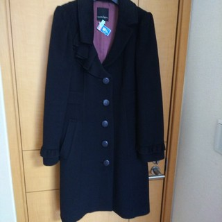 ナネットレポー(Nanette Lepore)の美品 東京スタイル  ナネットレポー  アンゴラコート黒  4(ロングコート)