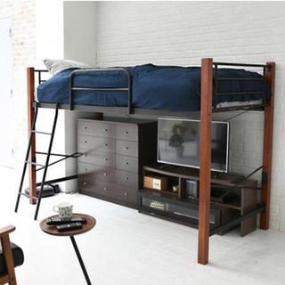 開店記念セール◆高さをミドルタイプとハイタイプに組み替え可能なロフトベッド(ロフトベッド/システムベッド)