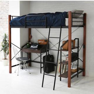 開店記念セール◆高さをミドルタイプとロフトタイプに組み替え可能なロフトベッド(ロフトベッド/システムベッド)