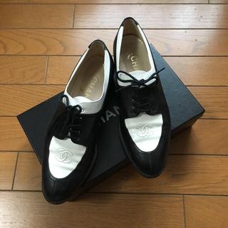 シャネル(CHANEL)のCHANEL ヴィンテージ レースアップシューズ(ローファー/革靴)