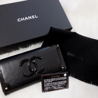 シャネル(CHANEL)のCHANEL シャネル 長財布 キャビアスキン×エナメルレザー  美品(財布)