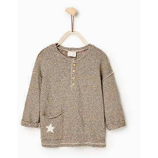 ザラ(ZARA)のzara baby ポケット☆星ボーダートップス(Tシャツ/カットソー)