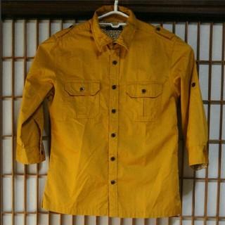 レイジブルー(RAGEBLUE)のRAGEBLUE 七分袖シャツ Mサイズ レイジブルー からし色 花柄 イエロー(シャツ)