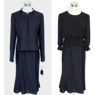 ソワール(SOIR)の新品 9号 アンサンブル スーツ 喪服 礼服  (礼服/喪服)