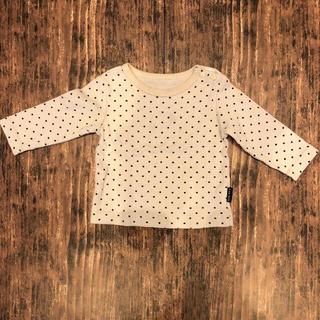 アンナニコラ(Anna Nicola)のAnnaNicola アンナニコラ ベビー 水玉長袖Tシャツ 日本製 男女兼用(シャツ/カットソー)