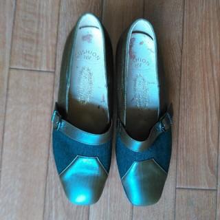 ギンザカネマツ(GINZA Kanematsu)のGINZA yoshinoya*本革デザイン靴*21cm(ハイヒール/パンプス)