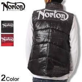 ノートン(Norton)のNorton ノートン ベスト ロゴ刺繍バイカラー ベスト 黒 XXL 未使用(ベスト)