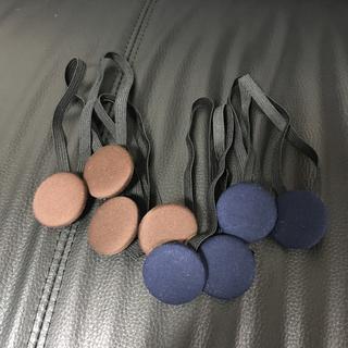 裾留めバンド ガウチョ ワイドパンツに  ブラウンと紺色(レッグウェア)