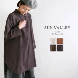 サンバレー(SUNVALLEY)の新品 未使用 SUN VALLEY サンバレー  チュニック ワンピース(シャツ/ブラウス(長袖/七分))