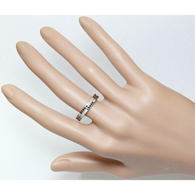 PonteVecchio(ポンテヴェキオ)のポンテヴェキオ ブラックダイヤ Pt ポンテ リング 指輪 メンズ 20号 メンズのアクセサリー(リング(指輪))の商品写真