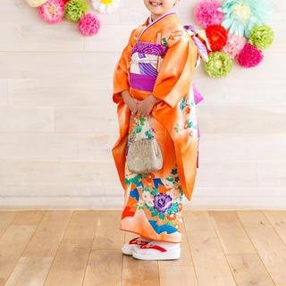 七五三 7歳用 着物(正絹)セット(和服/着物)