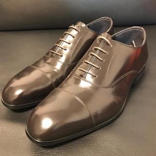 コムサメン(COMME CA MEN)の新品 未使用 人気 コムサメン ビジネスシューズ ブラウン(茶色)サイズ25.0(ドレス/ビジネス)
