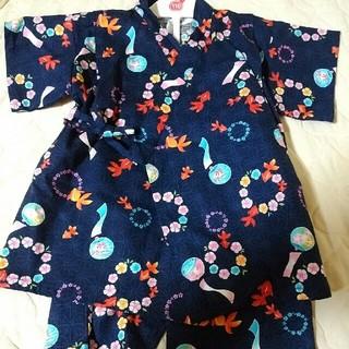 ニシマツヤ(西松屋)のクリ様専用110cm新品西松屋甚平浴衣金魚(甚平/浴衣)