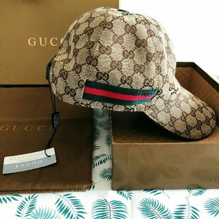 グッチ(Gucci)のGucci キャンバス ベースボール キャップ(キャスケット)
