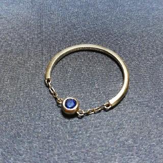 サマンサタバサ(Samantha Thavasa)のサマンサタバサ ブルーサファイア チェーンリング(リング(指輪))
