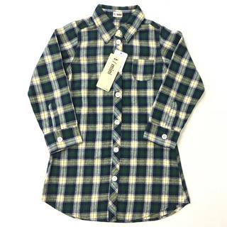 t/mini - t/mini チェックシャツワンピース 120cm