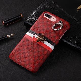 アイフォーン(iPhone)の ★二色 上品なデザイン カードポケット付き iphone ケースハードケース(iPhoneケース)