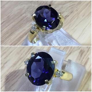 あーたん様 専用❗️天然石アイオライト&ダイヤリング 8.5号 簡易鑑別付(リング(指輪))