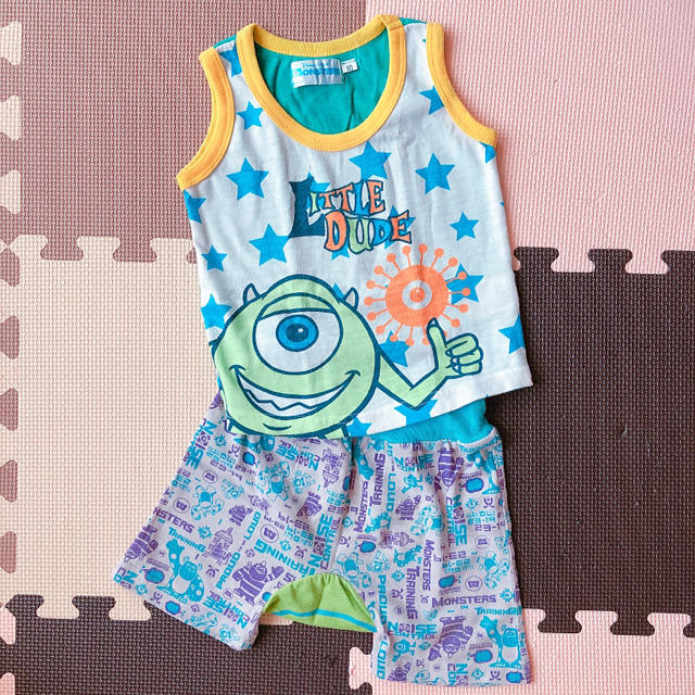 Disney(ディズニー)のモンスターズインク セットアップ タンクトップ ハーフパンツ キッズ/ベビー/マタニティのベビー服(~85cm)(タンクトップ/キャミソール)の商品写真