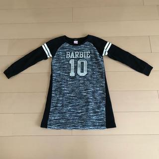 バービー(Barbie)のBarbieバービー♡1(150)ツイード&スウェットワンピ(ワンピース)