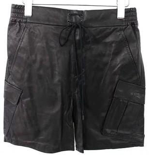 アトウ(ato)のアトウ カーフレザーイージーショートパンツ 未使用 サイズ48 ブラック(ショートパンツ)