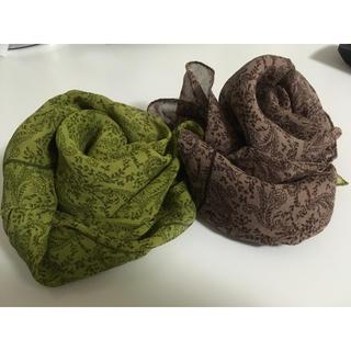 アンクライン(ANNE KLEIN)の未使用♡ANNE KLEINスカーフ 茶色(バンダナ/スカーフ)