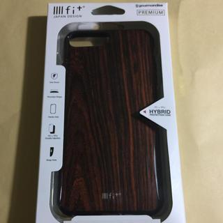 アイフォーン(iPhone)の新品・未使用 iiiifi+ イーフィット  iPhone8Plus ケース 木(iPhoneケース)