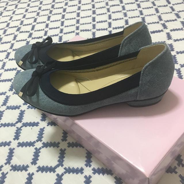 DIANA(ダイアナ)のダイアナ デニム フラットシューズ 21.5 レディースの靴/シューズ(バレエシューズ)の商品写真