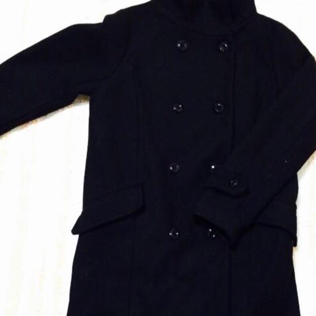 黒ロングコート レディースのジャケット/アウター(ロングコート)の商品写真